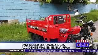 Accidente vial deja a una persona herida en el bulevar Fuerzas Armadas de la capital