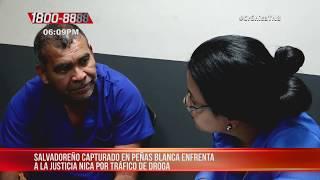 Salvadoreño que intentó ingresar cocaína a Nicaragua enfrenta audiencia