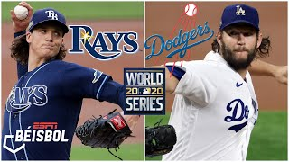 SERIE MUNDIAL Juego 1 Rays vs Dodgers. Glasnow vs Kershaw. ¿Se impuso la sabermetría | ESPN Béisbol