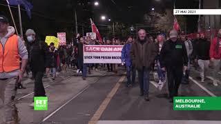 Australie : manifestation contre les mesures sanitaires à Melbourne