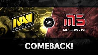 Comeback by Na`Vi vs M5 @ The Summit 2
