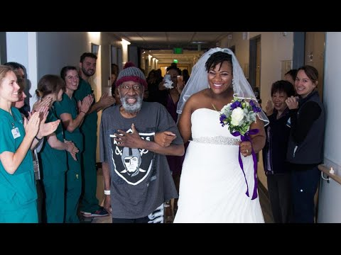 Dying Dad Walks Bride Down the Aisle in Surprise Hospital Wedding