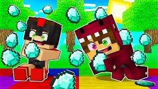 MINECRAFT pero CAEN DIAMANTES del CIELO ???? Minecraft Roleplay