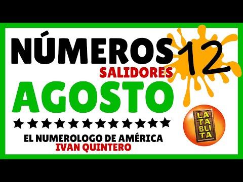Los 12 Numeros Salidores de Agosto   La Tablita tv
