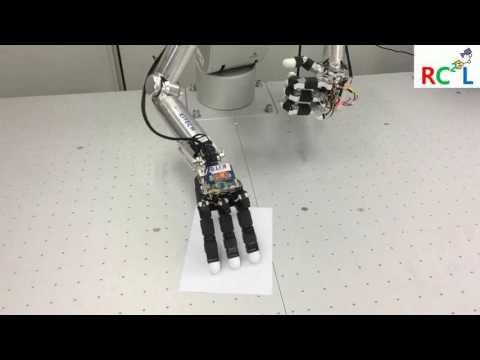 KITECH upper body robot: pick up paper