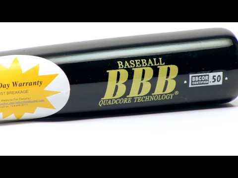 BamBooBat Bamboo Wood Bat: HBBB100D Black Adult