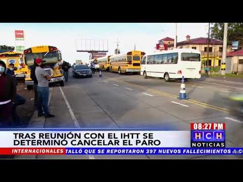 ¿HABRÁ O NO HABRÁ PARO DE TRANSPORTE Gremio de transporte dividido tras reuniones con el IHTT