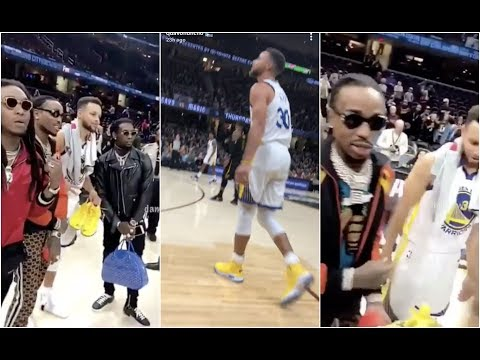 connectYoutube - Quavo Begs Stephen Curry For Game Shoes And Ends Up Getting Autographed Jersey Also