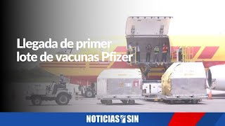 #ENVIVO Llegada de primer lote de vacunas Pfizer