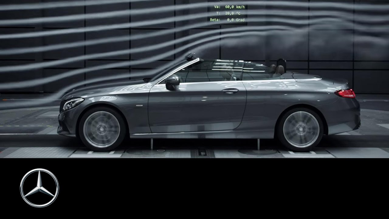 The new C-Class Cabriolet - aerodynamic also top down - Mercedes-Benz original