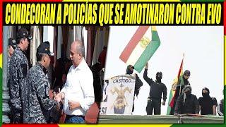 Condecoran a Policías Que  Se Amotinaron Contra Evo Morales