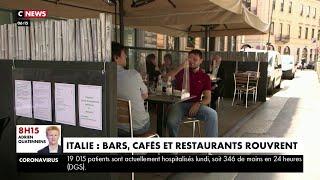 Les bars, les cafés et les restaurants rouvrent leurs portes à Rome et à Milan