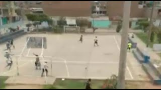 ¡De susto! Pandilleros se agarraron a balazos en parque de Los Olivos