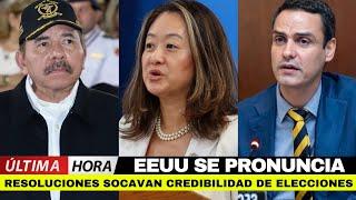 ???? LO ÚLTIMO   EEUU SE PRONUNCIA SOBRE NICARAGUA POR LA CANCELACIÓN DE PERSONERÍAS JURÍDICAS