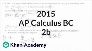 2015 AP Calculus BC 2b