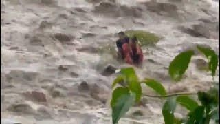 Ocho personas quedan atrapadas en el río San Francisco, Suchitepéquez