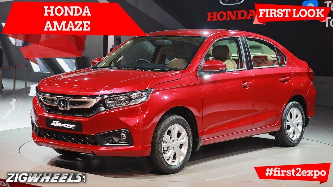 Honda Amaze | First Look | Auto Expo 2018 | ZigWheels.com