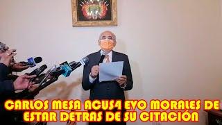CARLOS MESA NO AGACH4RE LA CABEZA Y VOLV3RIA HACER CIEN V3CES MÁS LO QUE HICE EN EL 2019 EN BOLIVIA