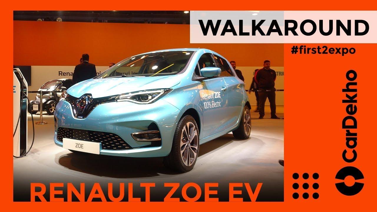 Renault Zoe EV Walkaround Review Auto Expo 2020 |CarDekho.Com