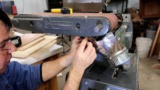 Adding belt sander dust collection