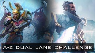 Dota 2 A-Z Dual Lane Challenge - Kunkka and Legion Commander
