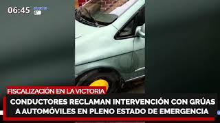 ¿ES JUSTO O NO ???? Conductores reclaman intervención con grúas y automóviles en plena Emergencia