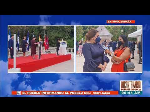 ¡HCH en España! Con mucho patriotismo autoridades hondureñas celebran el #BicentenarioHonduras