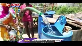 Residents Lock Water Drums In Rajasthan   V6 Teenmaar News - V6NEWSTELUGU
