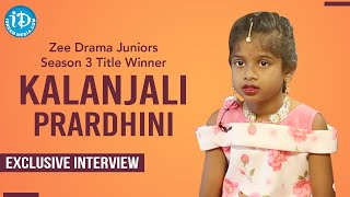 Zee Drama Juniors S3 Title Winner Kalanjali Prardhini Exclusive Full Interview   Dil Se With Anjali - IDREAMMOVIES