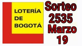 Resultados lotería de Bogota 19 de Marzo de 2020