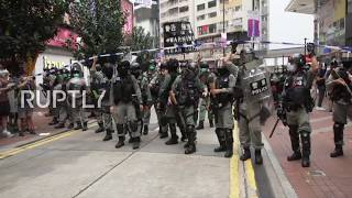 Hong Kong: Multiple arrests at unauthorised rally on anniversary of city's handover
