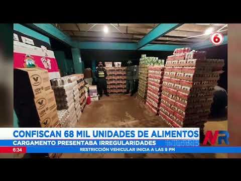 Confiscan 60 mil unidades de alimento por irregularidades
