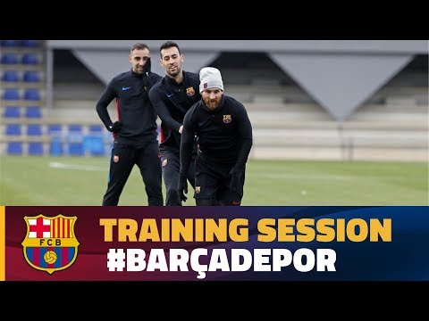 Return to training to prepare the match against Deportivo