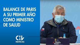 """""""Tengo derecho a emocionarme"""": El balance de Paris a su primer año como ministro de Salud"""