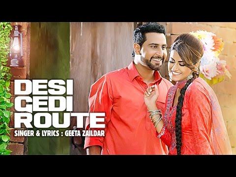 Desi Gedi Route Lyrics - Geeta Zaildar   Western Penduz