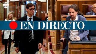 DIRECTO CORONAVIRUS: Comparecencia de Pablo Iglesias y Salvador Illa