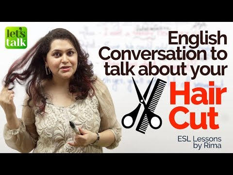 connectYoutube - English Conversation Lesson to talk about 'HAIRCUT' – English Lesson to learn new Vocabulary