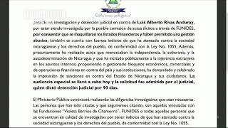 Siguen investigando delitos de lavado de dinero y otras actividades ilícitas en Nicaragua