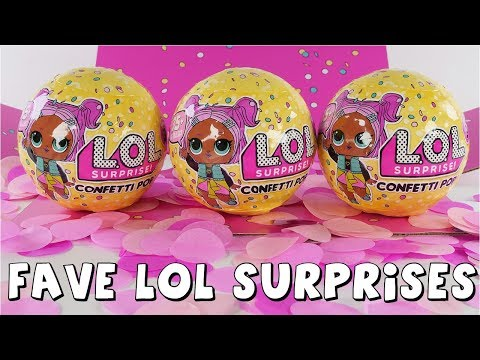 connectYoutube - LOL Surprise Confetti Pop, LOL Pets, Glitter Series and Dolls | Toy Compilation by DCTC Amy Jo