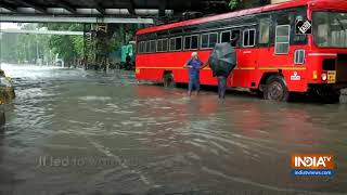 Heavy rainfall leads to water-logging in several parts of Mumbai - INDIATV