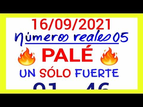 NÚMEROS PARA HOY 16/09/21 DE SEPTIEMBRE PARA TODAS LAS LOTERÍAS...!! Números reales 05 para hoy...!!