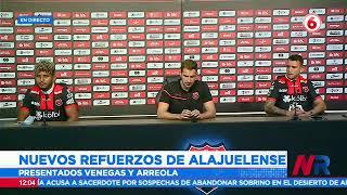 Alajuelense presenta a Venegas y Arreola como nuevos refuerzos