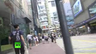 Enfrentamientos durante protestas en Hong Kong