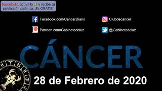 Horóscopo Diario - Cáncer - 28 de Febrero de 2020