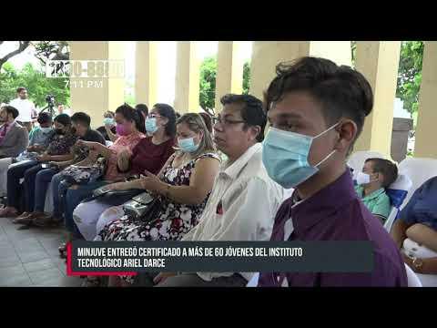 MINJUVE hizo reconocimiento a jóvenes egresados de Sistema Operativo en Managua - Nicaragua