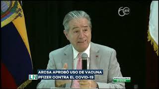 Aprueban el uso de la vacuna de Pfizer en contra del COVID-19 en el Ecuador