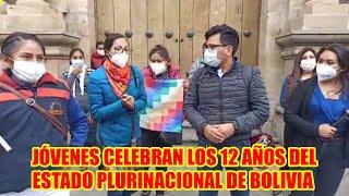JÓVENES CELEBRAN DIA PLURINACIONAL DE BOLIVIA--JALLALLA BOLIVIA..