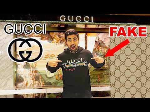 WEARING FAKE GUCCI TO THE GUCCI STORE  !!!