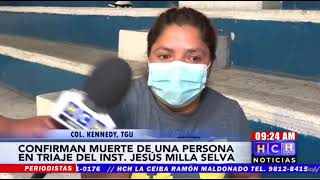 "#Covid19 arrebata una vida en triage del ""Jesús Milla Selva"""