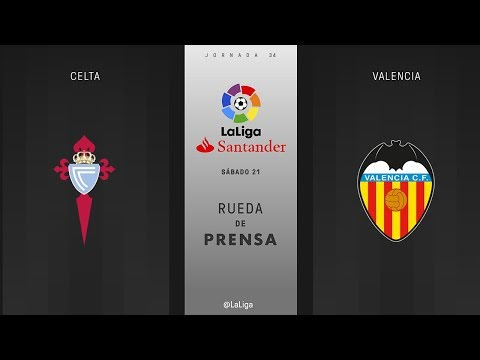 Rueda de prensa Celta vs Valencia